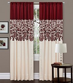 Lush Decor Estate Garden Red Window Panel