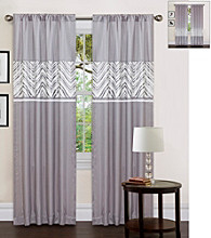 Lush Decor Evening Grace Gray and White Window Curtain