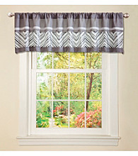 Lush Decor Evening Grace Grey and White Valance