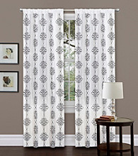 Lush Decor Isabella White Window Curtain