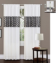 Lush Decor Shimmer White Window Curtain