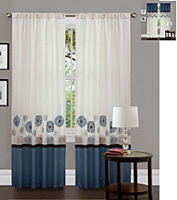 Lush Decor Tender Blossom Blue Window Curtain