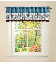 Lush Decor Tender Blossom Blue Valance