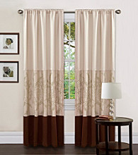 Lush Decor Hester Green Single Window Curtain