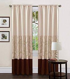 Lush Decor Hester Green Single Window Curtain