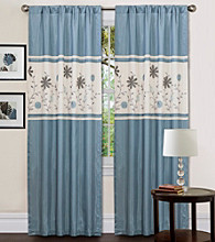 Lush Decor Monica Floral Blue Window Curtain
