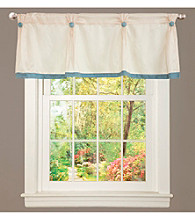 Lush Decor Monica Floral Blue Valance