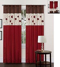 Lush Decor Royal Embrace Red Window Curtain