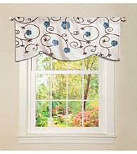 Lush Decor Royal Garden Blue Valance