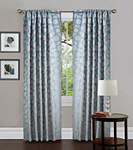Lush Decor Orbit Blue Window Curtain
