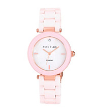 Anne Klein® Women's Ceramic Bracelet Rose/Blush Watch