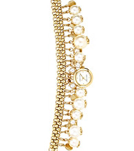 Anne Klein® Women's Charm Bracelet Gold Watch