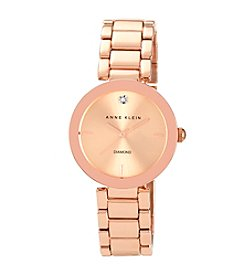 Anne Klein® Women's Rose Goldtone Bracelet Watch