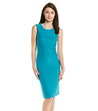 Calvin Klein Sleeveless Scoopneck Banded Dress
