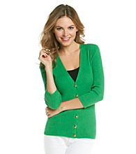 Anne Klein® V-Neck Buttonfront Cardigan