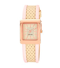 Nine West® Women's Square Strap Cream Watch