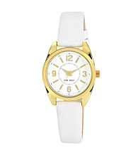Nine West® Women's Classic Strap White Watch