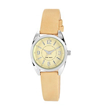 Nine West®Women's Natural Strap Cream Watch