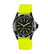 Nine West® Women's Silicon Strap Lemon Watch