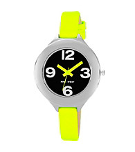 Nine West® Women's Neon Strap Black Watch