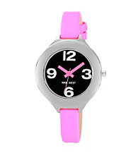 Nine West® Women's Neon Strap Pink Watch