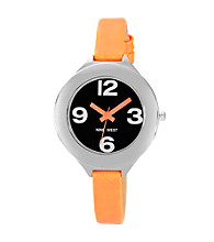 Nine West® Women's Neon Strap Orange Watch