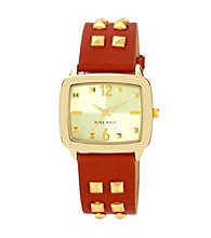 Nine West® Women's Luggage Strap Honey Watch