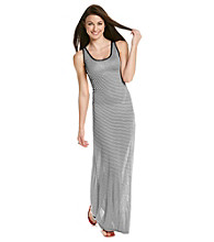 Vince Camuto® Sleeveless Scoopneck Striped Maxi Dress