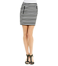 MICHAEL Michael Kors Stripe Zip Pocket Skirt