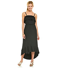 AGB® High-Low Ruffled Maxi Dress