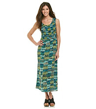 Notations® All Over Print Long Maxi Dress