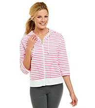 Exertek® Striped Zipper Front Jacket
