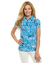 Gloria Vanderbilt® Wild At Heart Print Polo