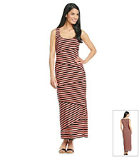 R&M Richards® Asymmetric Stripe Maxi Dress