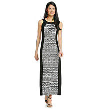R&M Richards Panel Print Maxi Dress