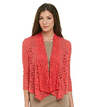 R&M Richards Lace Drape Front Shrug