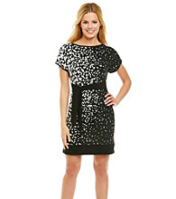 Madison Leigh® Print Side Tie Knit Dress
