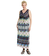 R&M Richards® Plus Size Print Maxi Dress