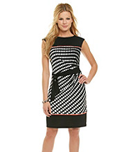 Madison Leigh® Print Colorblock Side Tie Knit Dress