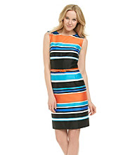 Tahari by Arthur S. Levine Striped Dress