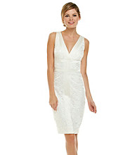 JAX® Surplice Lace Dress