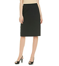 Le Suit® Pinstripe Straight Skirt