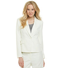 Kasper® Plus Size Melange Peak Collar Jacket
