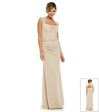 Cachet Long Jacquard Gown