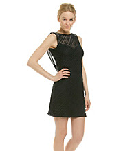 Cachet® Beaded Shoulder Little Black Dress
