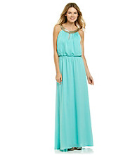 Vince Camuto® Jewelneck Maxi Dress