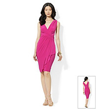 Lauren by Ralph Lauren® Ruffled V-Neck Sheath Dress