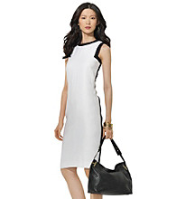 Lauren by Ralph Lauren® Contrast Piped Sheath Dress
