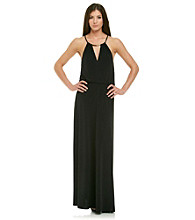 Calvin Klein Necklace Blouson Maxi Dress