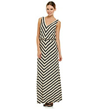 Calvin Klein Chevron Maxi Dress
